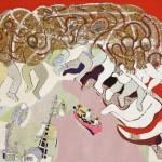 Le bœuf de Mèze - Acrylique sur jute - 130 x 100 cm - 1982