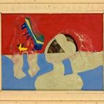 La femme voilée - Acrylique sur bois plus verre - 62 x 50 cm - 1986
