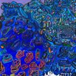 Fête de la Saint-Pierre - Acrylique sur toile - 90 x 120 cm - 2007