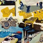 Hommage a Gébé - Acrylique sur toile de jute - 100 x 130 cm - 1978