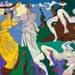 Judith et Holopherme - Huile sur toile de jute - 130 x 100 cm - 1979