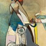 La cavalière - Huile sur toile - 100 x 130 cm - 1971