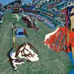 La corrida verte - Huile sur toile - 132 x 100 cm - 1982