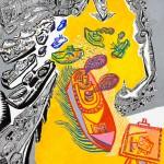 La criée au poisson - Acrylique sur toile - 90 x 120 cm - 2007