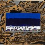 La plage autour - Acrylique sur carton - 40 x 40 cm - 2004
