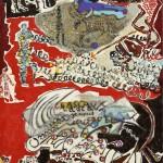 Lascaux - Acrylique sur jute - 100 x 130 cm - 1989