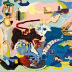 Le bail et P,F - Acrylique sur toile - 99 x 82 cm - 1976