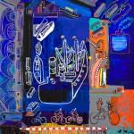 Le passage à niveau - Acrylique sur toile - 90 x 120 cm - 2007