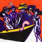 Les femmes à la barque - Acrylique sur toile - 130 x 100 cm - 2000