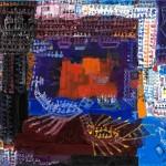 Les joutes - Acrylique sur toile - 90 x 67 cm  2002