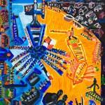 Les joutes - Acrylique sur toile - 73 x 117 cm  2006