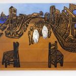 Les mariés - Acrylique sur bois - 160 x 70 cm - 1989