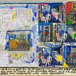 Lettre à Theo - Acrylique sur bois - 65 x 36 cm - 2001