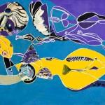 Méduse et euralyde sténo - Huile sur toile - 130 x 100 cm - 1979
