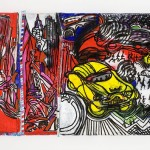 New York Acrylique sur plastique - 187 x 67 cm - 1996