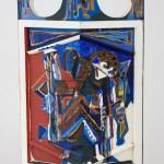 Pavois - Huile et acrylique - 46 x 70 cm - 1976