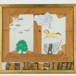 Petit cheval - Plexiglass et bois - 37 x 30 cm - 1975