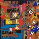 Pochoirs - Acrylique sur toile de jute - 100 x 80 cm - 1987