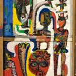 Sans titre - Peinture sur carton - 100 x 130 cm - 1978