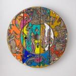 Sans titre - Acrylique sur bois - Diamètre 81 cm - 1992