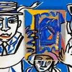 Vainqueur ex aequo - Acrylique sur bois - 40 x 20 cm - 1992