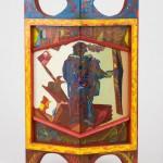 Vive les joutes - Huile sur bois - 33 x 55 cm - 1977