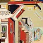 Le prisonnier - Acrylique sur toile de jute - 100 x 130 cm - 1978